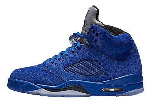 size 40 40dc6 af3a7 Jordan Men Air Jordan 5 Retro blue game royal black Size ...