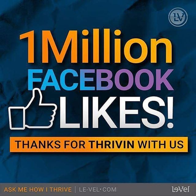 1 Million Facebook Likes 😃😃 Now That's A Lot Of Thrivers