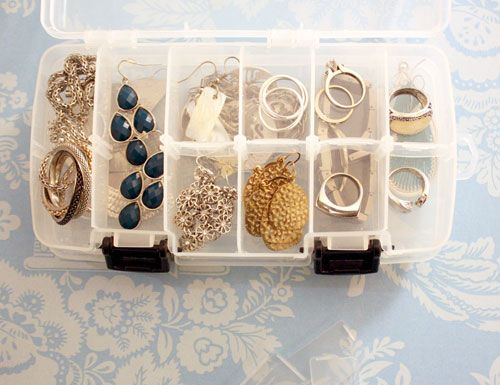 Use a Fish Bait Tackle Box to keep Jewelry protected and organized