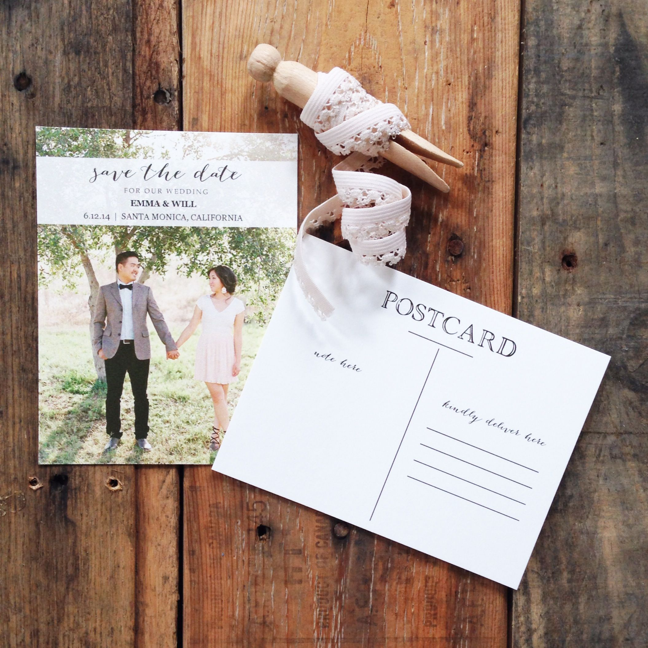 Free Printable Photo Postcard Save the Date | Freebies & Free ...