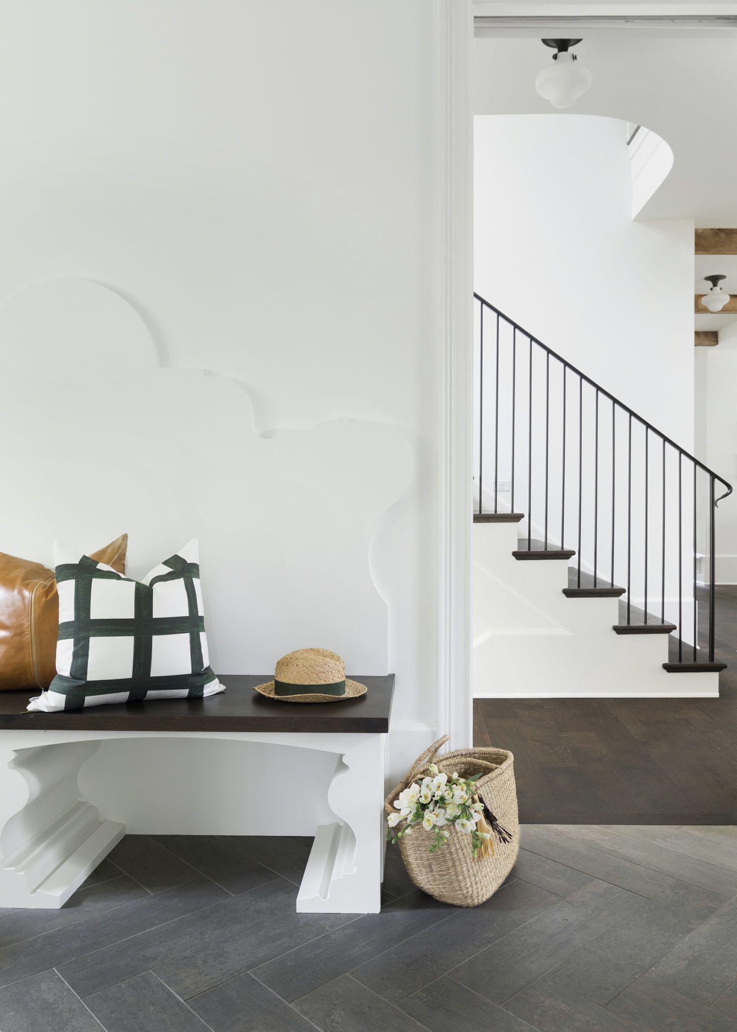 Casco Avenue Project Reveal Herringbone tile floors