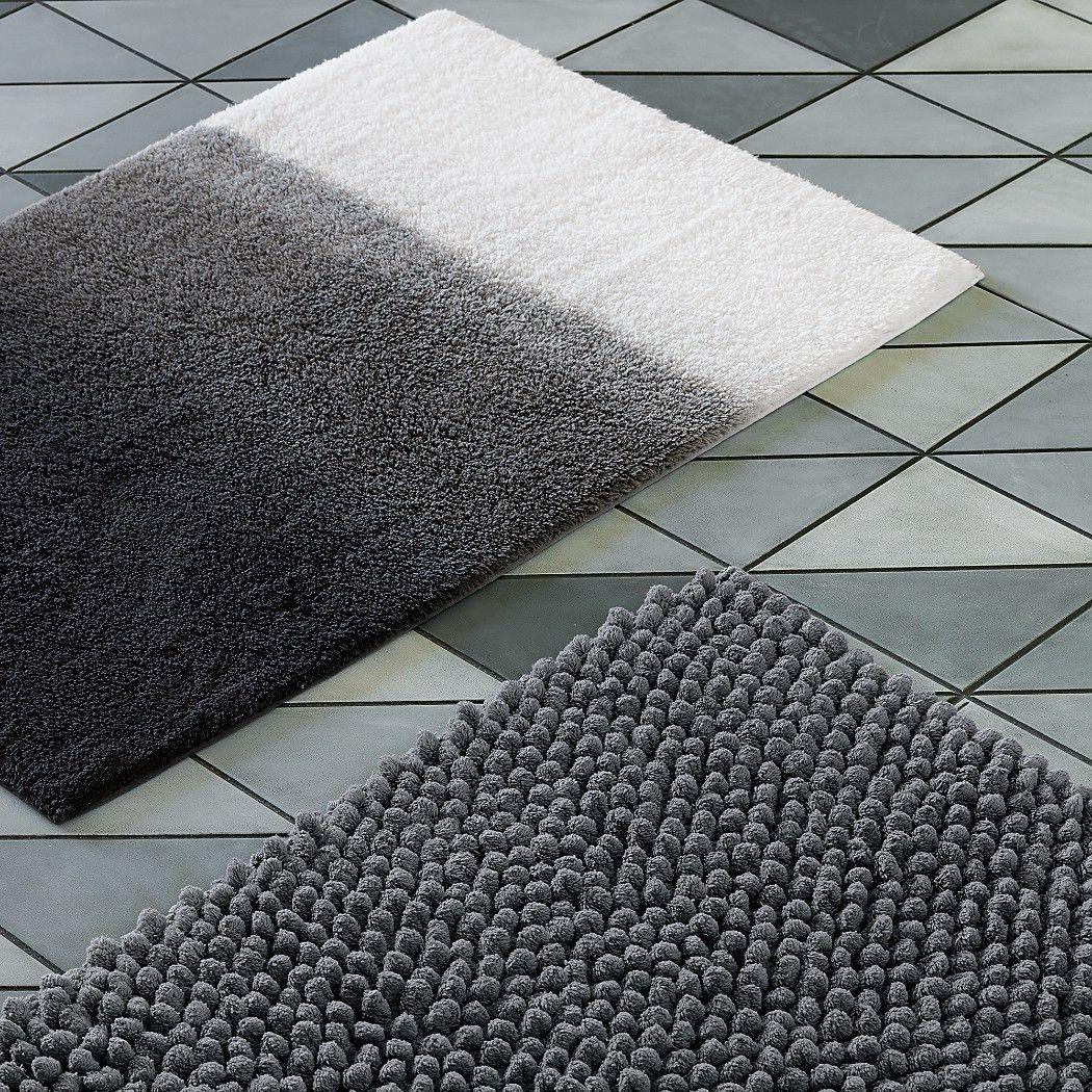 Bath Rugs Grey Mat, Contemporary Bathroom Rug Sets India