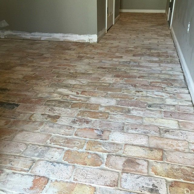 Related image brick flooring pinterest brick pavers for Brick kitchen floor ideas