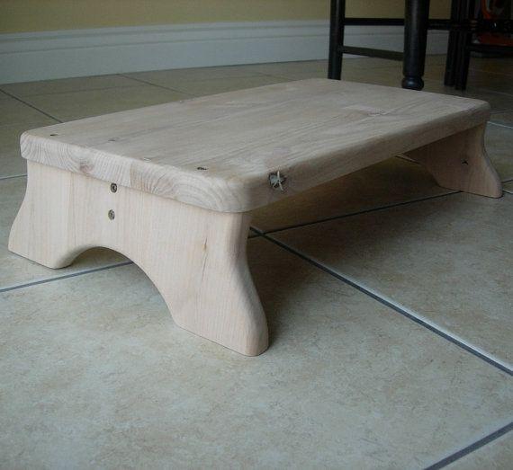 Large Platform Step Stool Unfinished Wood Alder By Laffydaffy On
