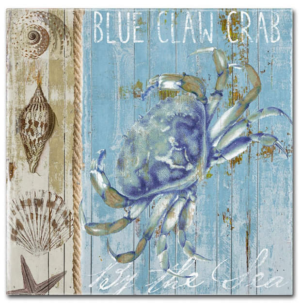 Trademark Global Color Bakery 'Blue Crab I' Canvas Art - 14  x 2  x 14