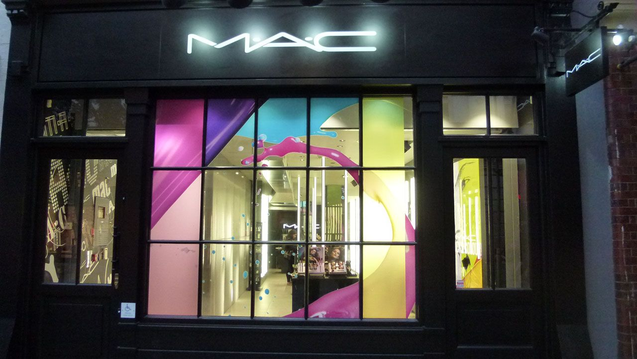 mac cosmetics store display mac floral street covent