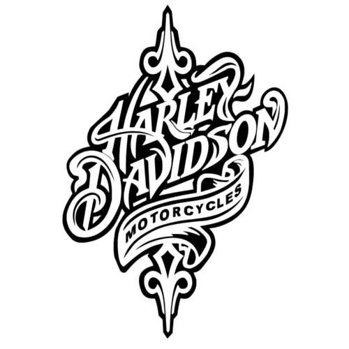Harley davidson die cut vinyl decal pv714