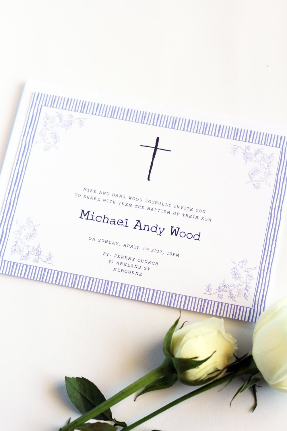 Digital or Printed - Your Choice, Boy Baptism or Christening ...