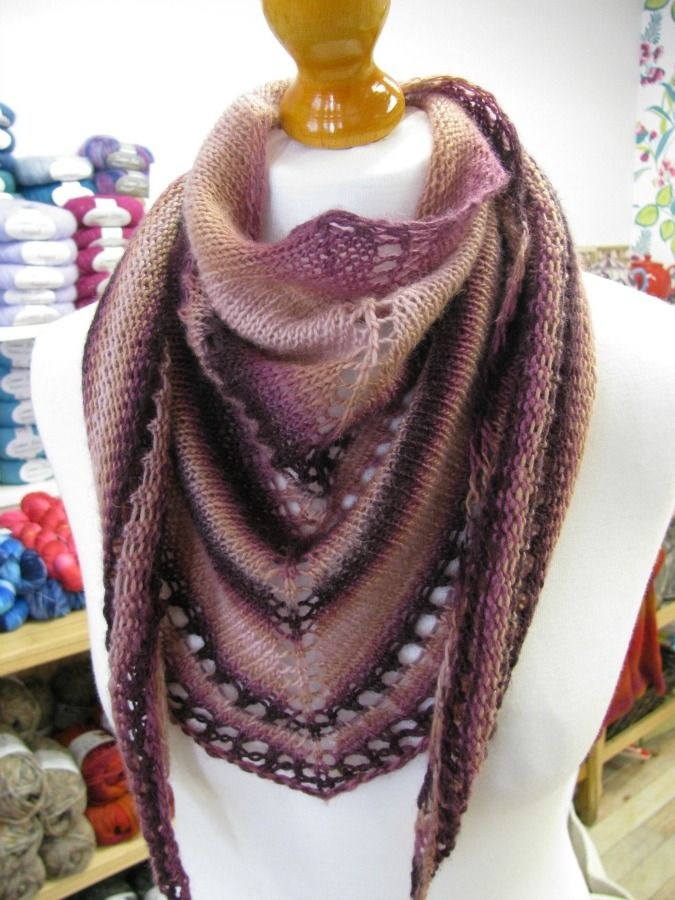 The Woolly Brew A Simple Shawl Using One Ball Of Louisa Harding