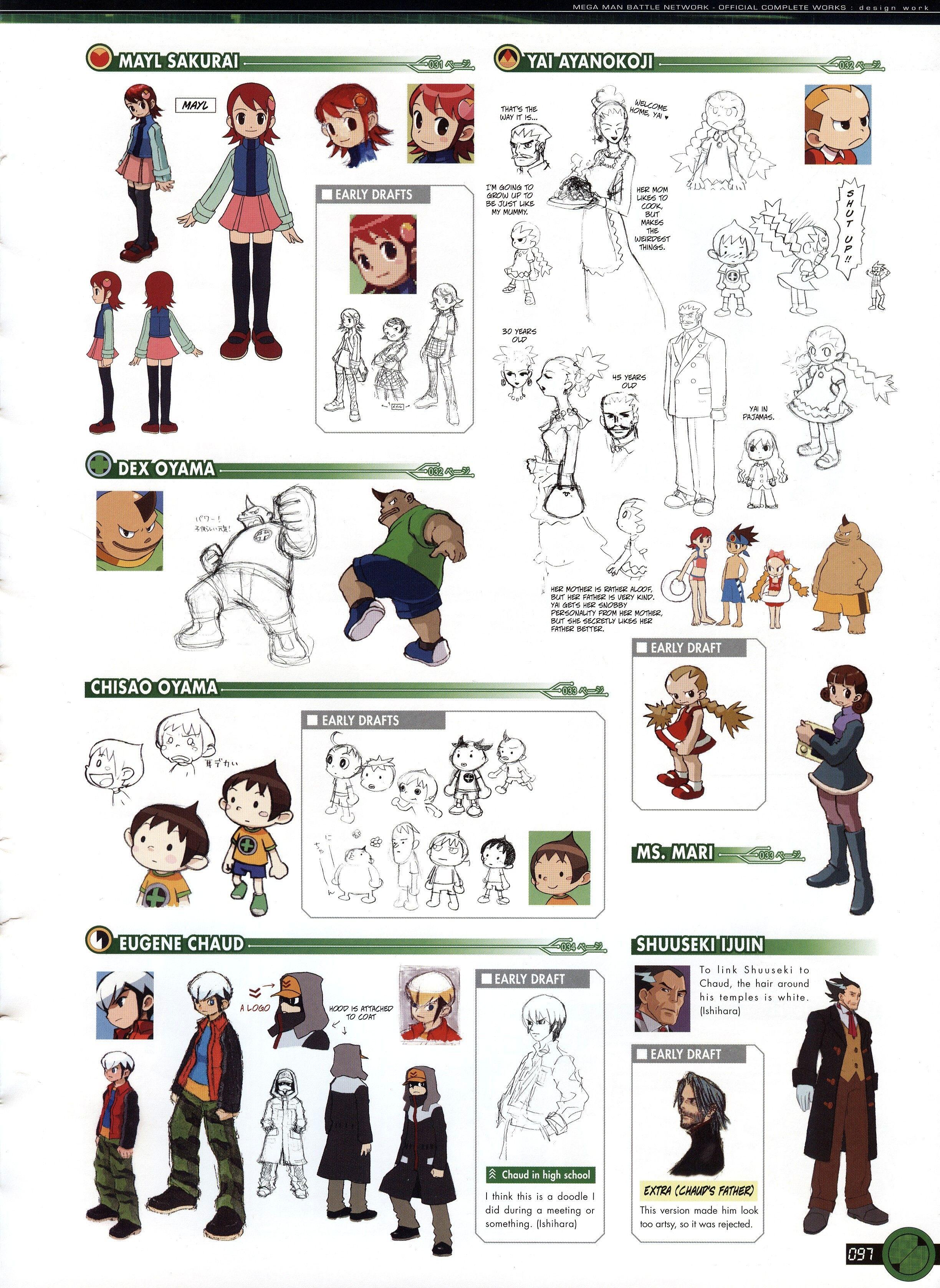 Megaman Battle Network Complete Works Scans Mega Man Character Design Man