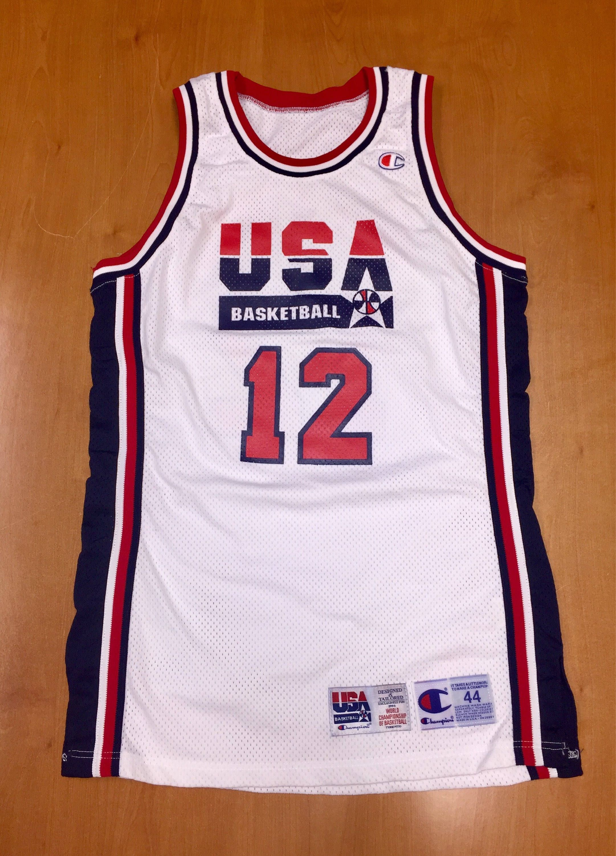 20a79704577 Vintage 1994 Dominique Wilkins Dream Team USA Authentic Champion Jersey  Size 44 pro cut michael jordan penny hardaway charles barkley nba by ...