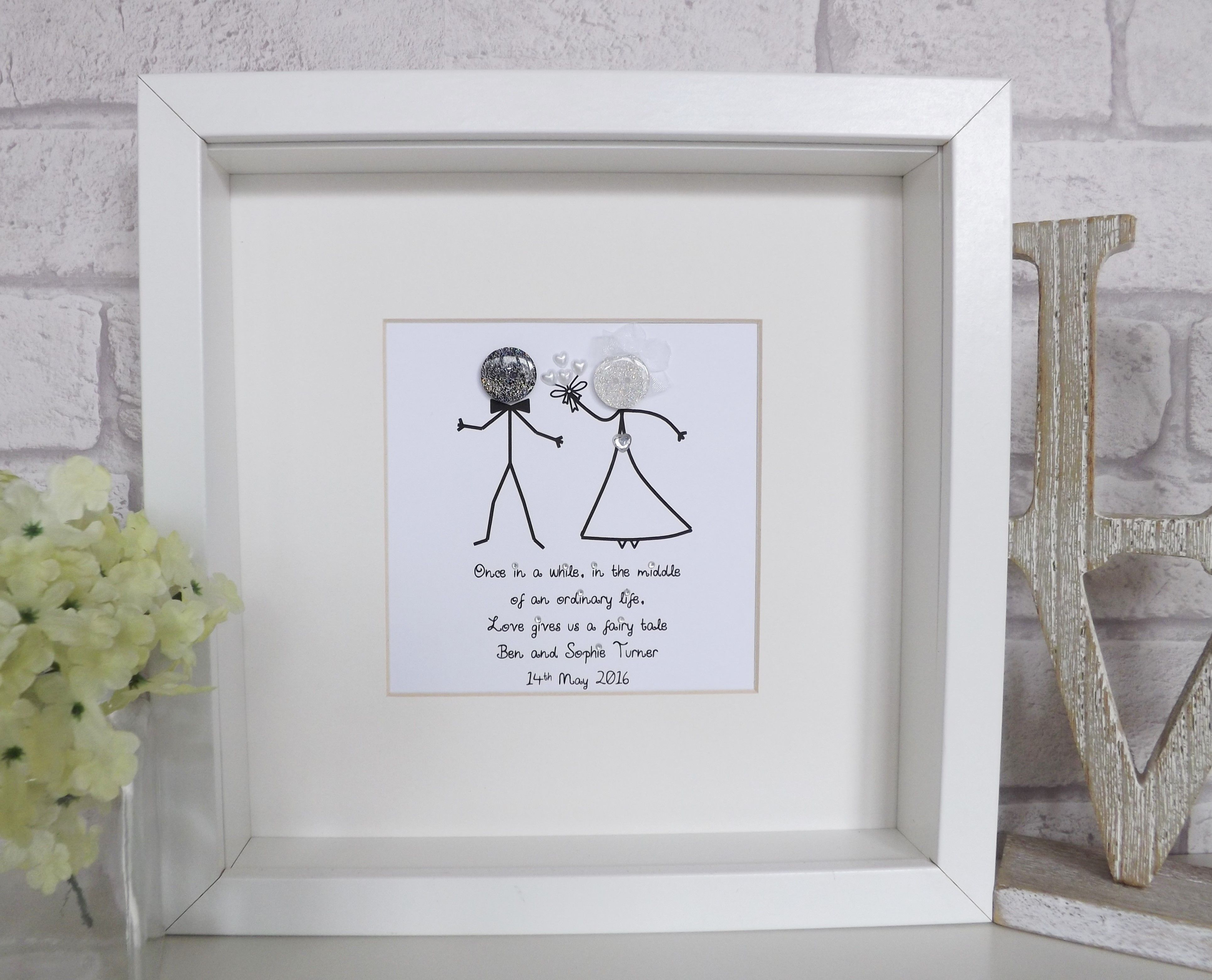 Fantastic personalised wedding gift for bride and groom