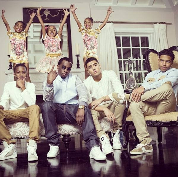 bc8558f70eda Diddy Unveils His Family s Easter Portrait