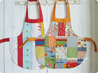 Alina Girls\' Apron PDF Pattern | Sewing in the kitchen | Pinterest ...