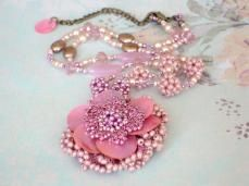 Azura Necklace - Pink  By Ellorias Boutique wowthankyou.co.uk