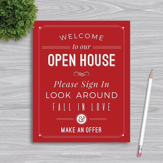 open house printable signs 🏠 | real estate marketing | pinterest, Powerpoint templates
