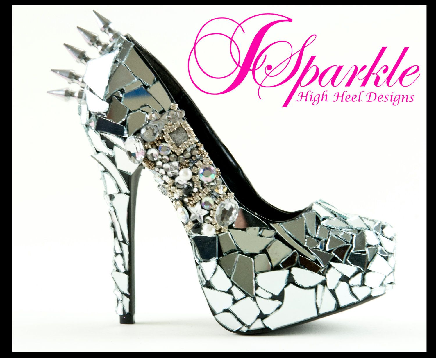 Modern Day Cinderella Glass Wedding Shoe Xoxo Heels Designer