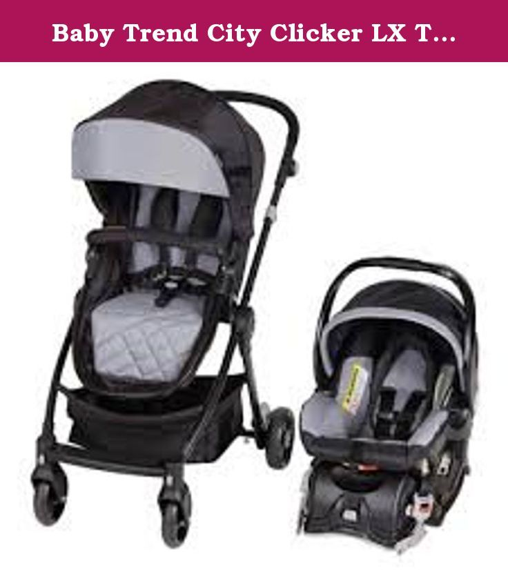 Baby Trend City Clicker LX Travel System wild dove