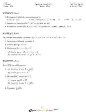 aide devoir math
