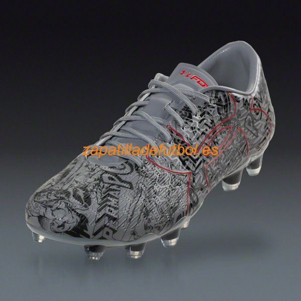Zapatos de Futbol Under Armour Clutchfit Force 2.0 AE Superman FG Para Terreno Firme Acero?Negro Rojo