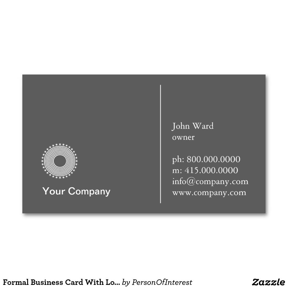 Formal Business Card With Logo | Business Cards & Profile Cards ...