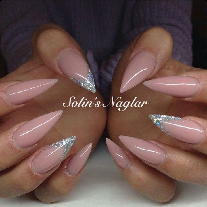 Light Pink Stilettos Nails With Images Pink Stiletto Nails