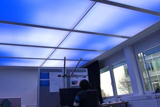 Led Ceiling Tiles Create A Virtual Sky For The Office