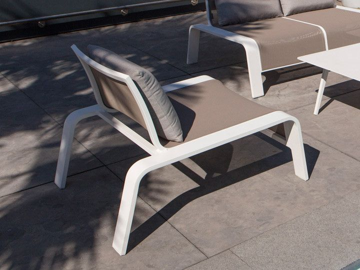 EZEE Garten Lounge Alu Weiß \ Textilene Taupe #garten #gartenmöbel - gartenmobel design weis