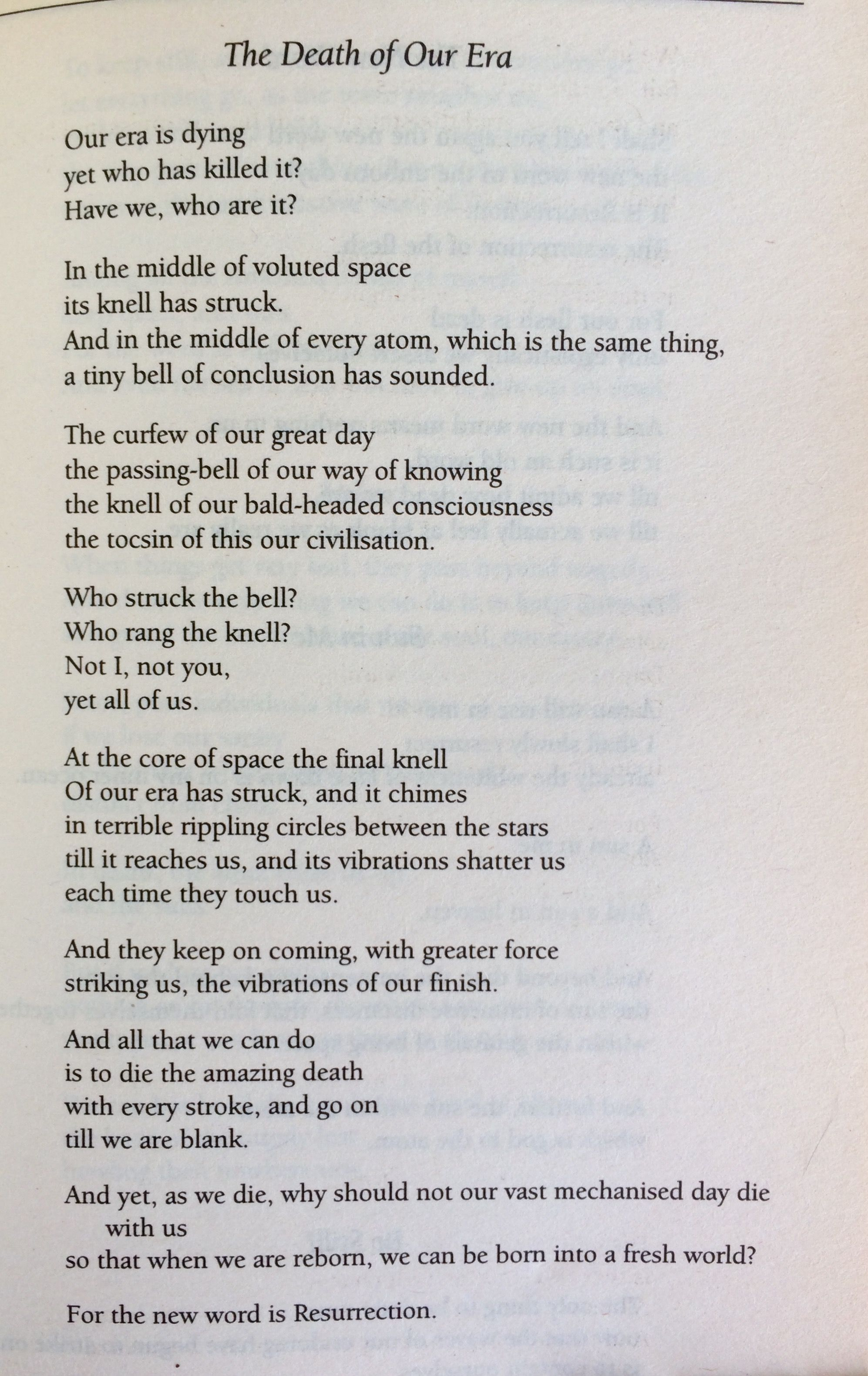 To the death of the poet