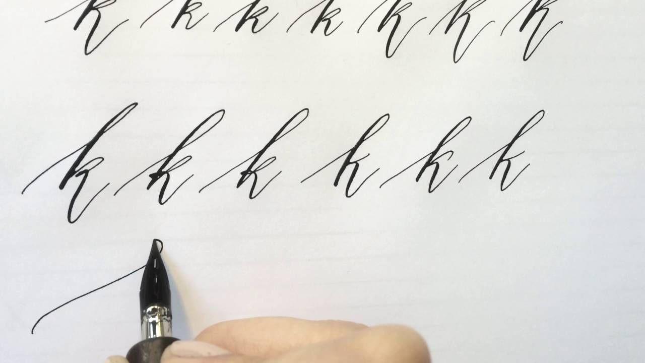 Modern Calligraphy Letter K Modern Calligraphy Calligraphy Tutorial Calligraphy Letters