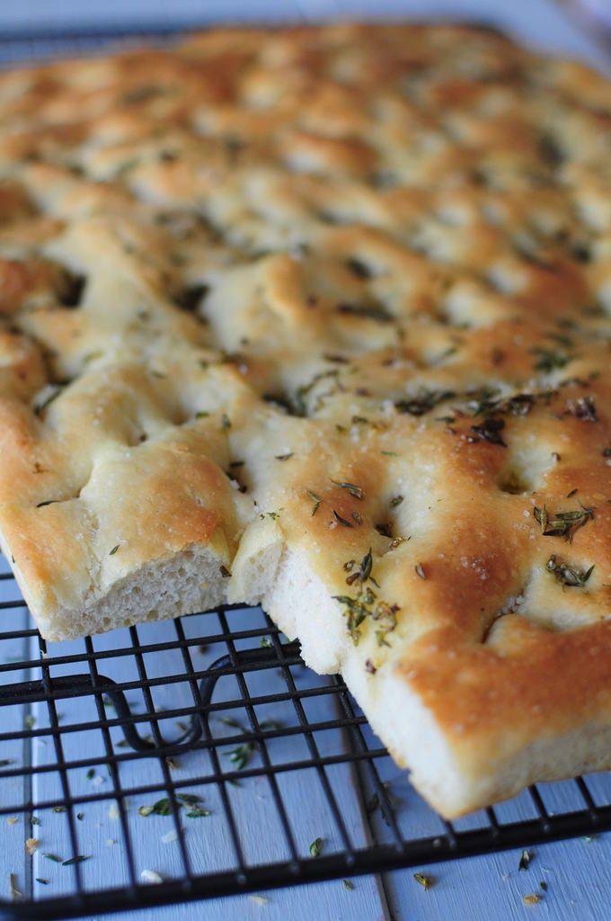 Focaccia thym et fleur de sel blog de cuisine cr ative - Faire secher du thym ...