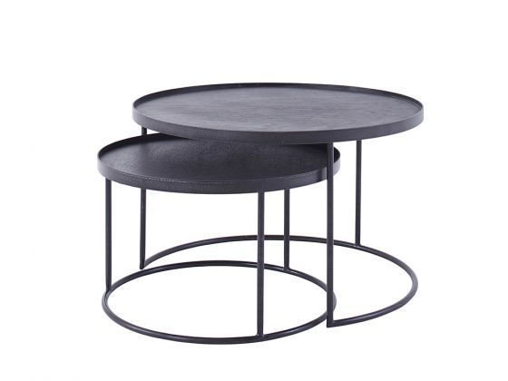 Notre Monde Low Nesting Side Table Set Nesting Tables Table Coffee Table