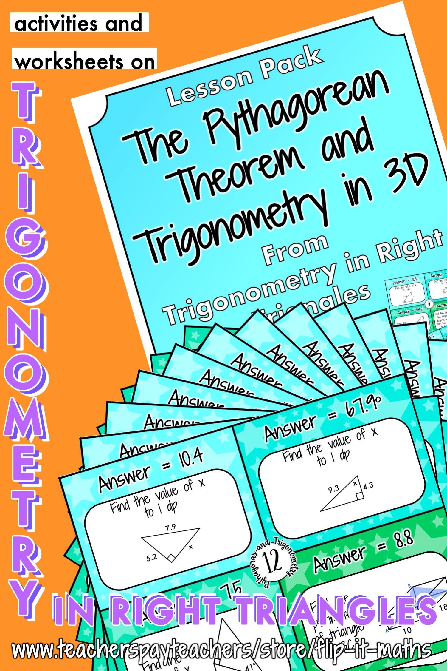 The Pythagorean Theorem And Trigonometry In 3d In