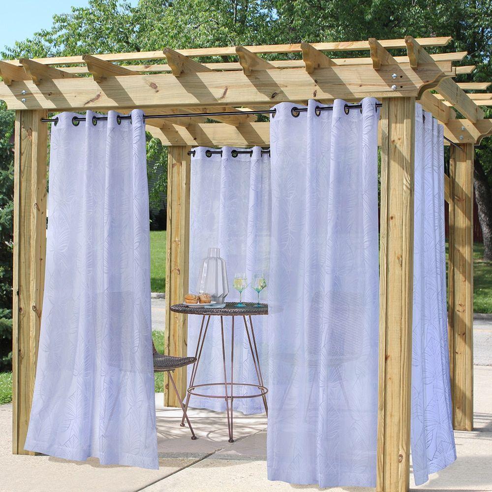 Outdoor Decor Curtains Havana Leaf Set Of 6 In 2020 Outdoor Curtains Outdoor Curtains For Patio Patio Curtains