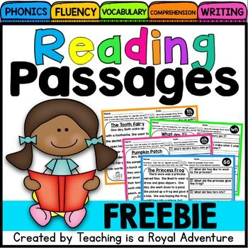 Free Downloads Fluency and Skill Based Comprehension Notebook: SAMPLE Each reading passage focuses on: * Phonics * Reading Comprehension* Fluency* Vocabulary* Writing *Click here to SAVE when getting the BUNDLE for Phonics Reading Passages for the ENTIRE YEAR What is included? * -ss digraph reading passage* Word Sort * Writing Activity (Students write the words found in the passage and a sentence using one or more of the pattern word) If you have any questions, please feel free to contact...