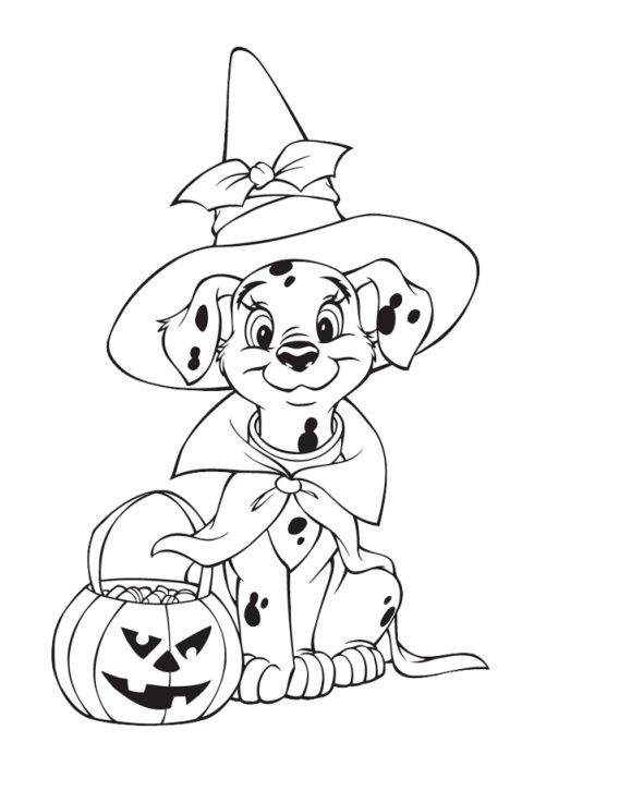 Halloween Dalmatian coloring page | Halloween | Pinterest ...