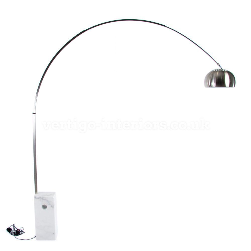 Arco Style Marble Base Floor Lamp - White > Arco Lamp > Lighting ...