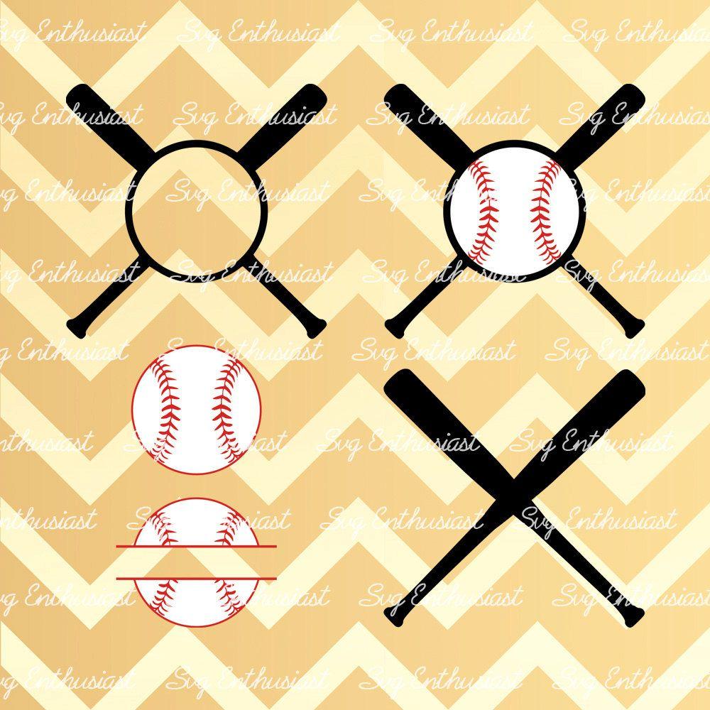 Baseball Monogram SVG, Baseball Monogram frame cut files, Bat Svg, Baseball ball Svg, PNG, Vinyl, EPS, Dxf, Cut Files, Clip Art, Vector, by…