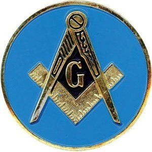 MASONS LOGO EMBLEM  METAL ALUMINUM CAR LICENSE PLATE TAG MASONIC MADE IN USA