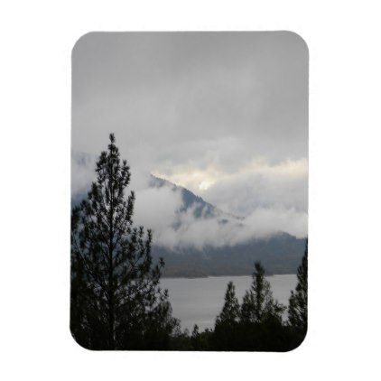 Whiskeytown Lake with the misting  fog... Magnet - home gifts ideas decor special unique custom individual customized individualized
