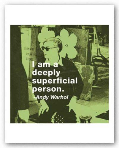 ANDY WARHOL 11x14 POP ART PRINT You have to be willing get happy about nothing