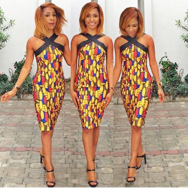 Criss Cross Bodycon Dress African Attire African Clothing African Fashion
