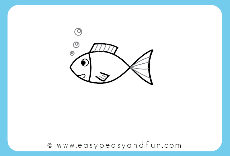 How To Draw A Fish Step By Step Tutorial For Kids Printable Easy Peasy And Fun Easy Fish Drawing Basic Drawing For Kids Cute Easy Drawings