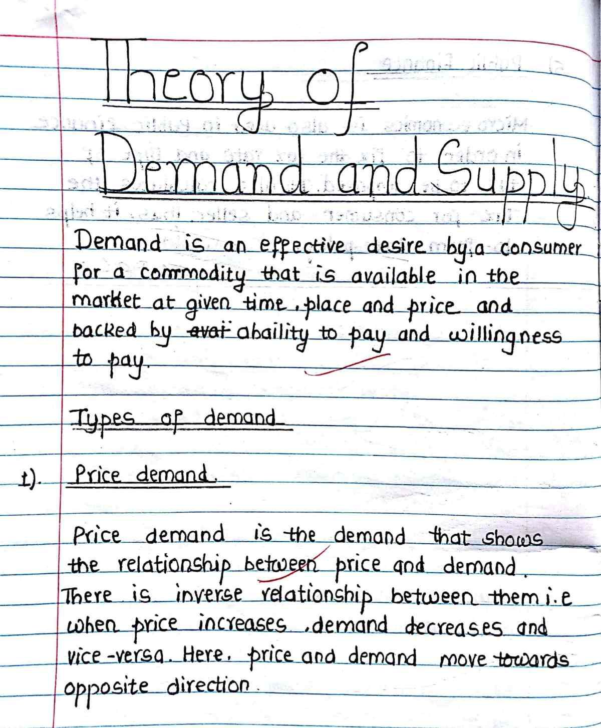 Theory Of Demand And Supply Study Deeper Economics Notes Economics Lessons Writing Words