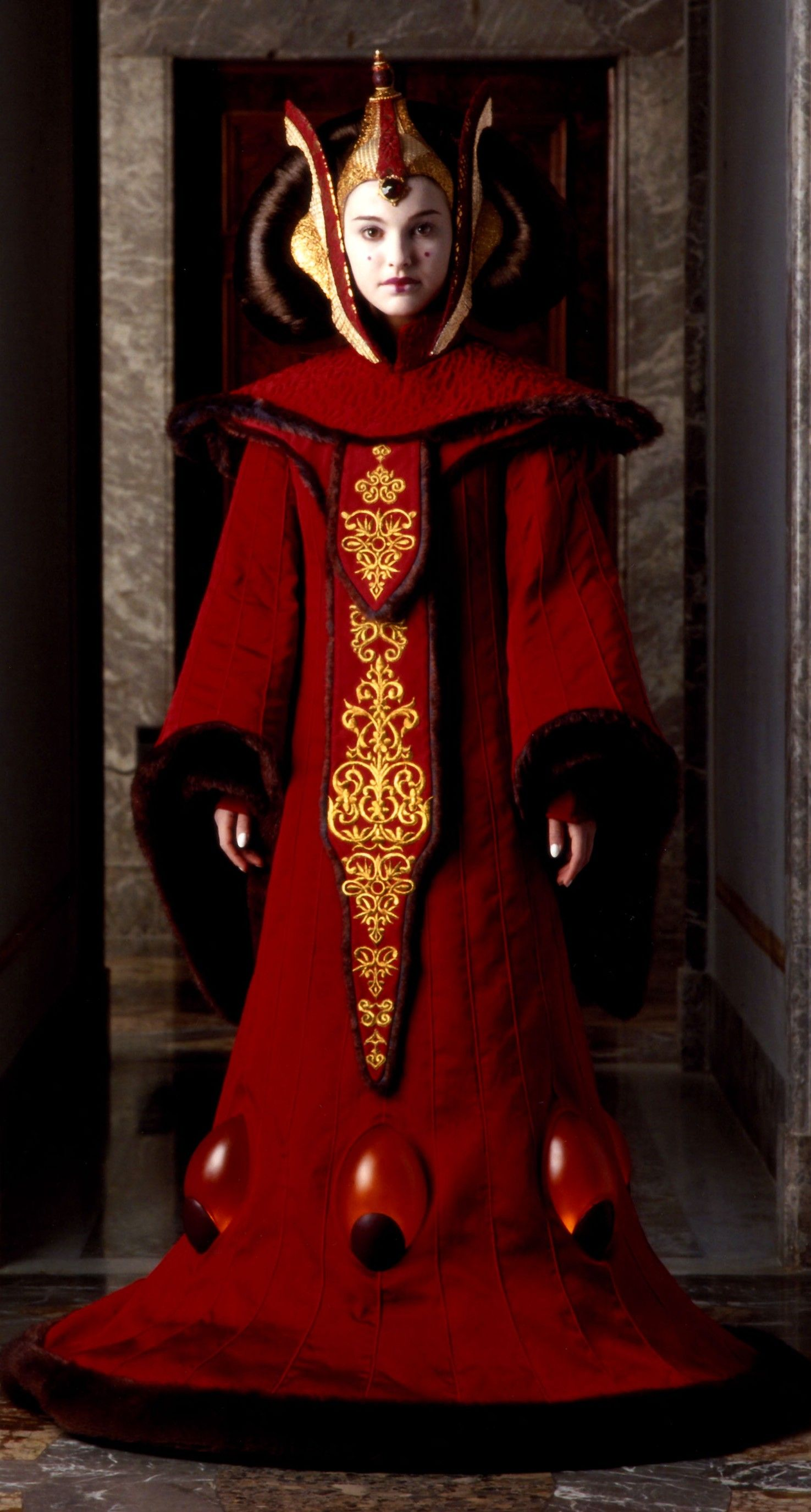 Star Wars The Phantom Menace Padmé Amidala Cosplay Costume Queen Dress