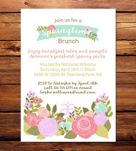 Arbonne Spring Brunch Invitation - 5x7 digital file ...