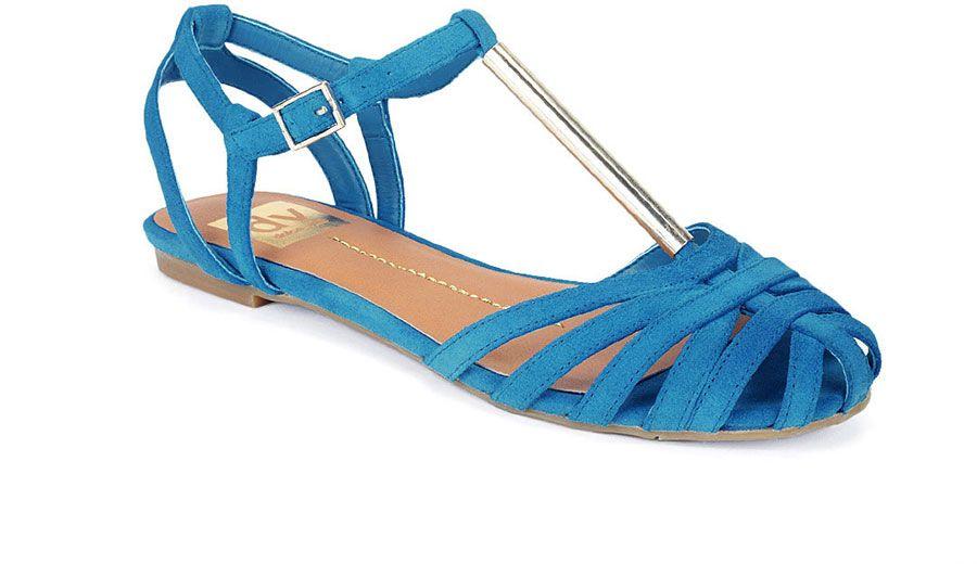 1311 Sea Blue L Suede Sandals Sandals Closed Toe Sandals