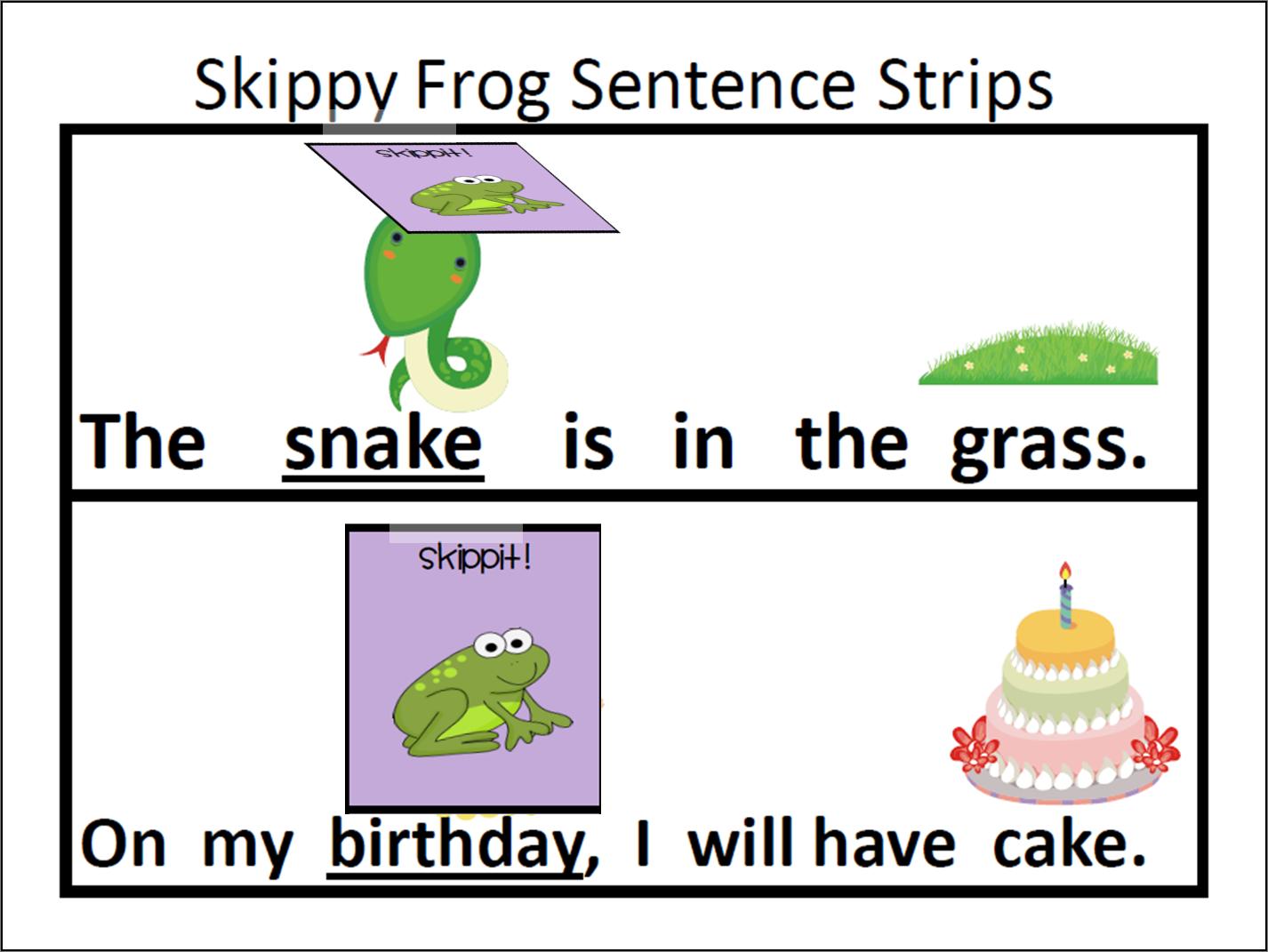 Skippy Frog Reading Strategy Lesson Plan Center