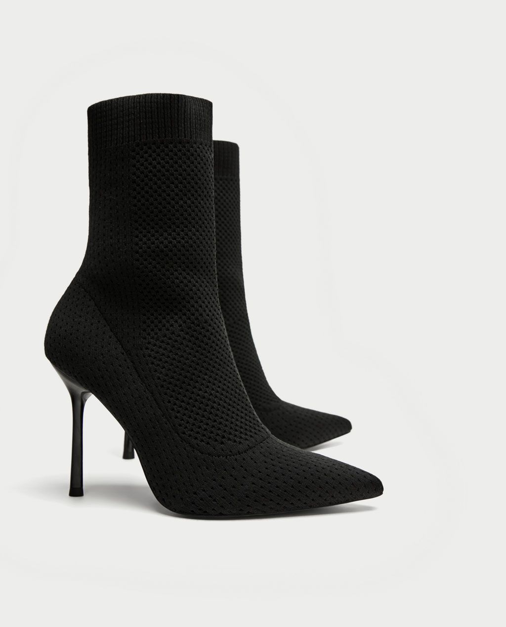207a6b6e66f STRETCH FABRIC HIGH HEEL ANKLE BOOTS-View all-SHOES-WOMAN