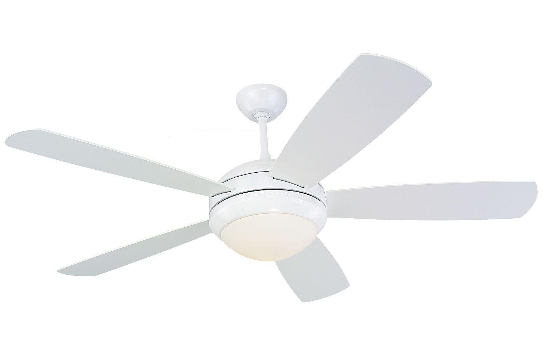 "Monte Carlo 52"" Discus Fan - White - Ceiling Fan 5DI52WHD-L"